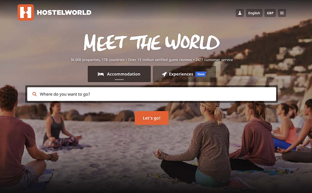 Hostelworld screenshot